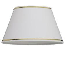 Cortina de lámpara de papel blanco 30cm con borde dorado Rosalind Wheeler Nuevo (Q)