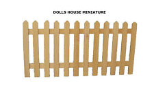 Wooden Picket Fence, Doll House Garden Fencing. Miniature 1.12th Scale