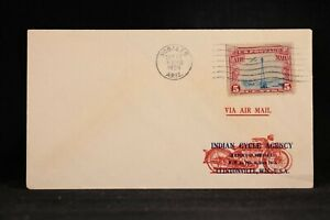 Arizona: Nogales 1929 #C11 Airmail Cover to Indian Motorcycle Co in Clintonville