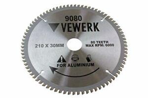 VEWERK TCT Circular Saw Blade 210mm x 30mm x 80T for ALUMINIUM 9080