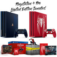 PlayStation 4 PS4 Pro Limited Editions 2TB 500 Million Edition Spiderman Bundles
