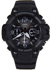 Casio Men's Chronograph Quartz 100m Black Resin Watch MCW100H-1A3V