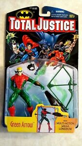 DC Total Justice Green Arrow Action Figure Mega Longbow 1996 Kenner New