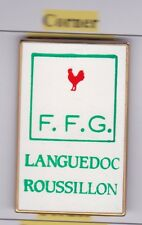 Pin's Folies ** Sport Golf badge made by Corner FFG Coq Languedoc Roussillon