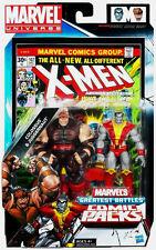 MARVEL UNIVERSE Comic Packs_COLOSSUS and JUGGERNAUT figures_Greatest Battles_MIP