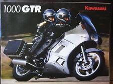 MOTO KAWASAKI  1000 GTR 1986 CATALOGUE DEPLIANT PROSPECTUS BROCHURE