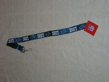 "Football Detroit Lions NFL Lanyard 22"" Key Chain ID Holder NWT"
