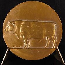 Medaille Taureau de race Bull animal sc J H Coëffin 1978 49 mm medal
