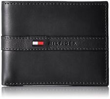 Genuine tommy hilfiger ranger black leather billfold wallet Next day postage