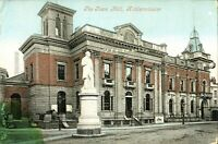 The Town Hall Kidderminster postcard antique colour printed social history