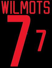 Belgium Wilmots Nameset 2002 Shirt Soccer Number Letter Heat Print Football A