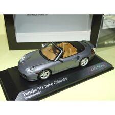 PORSCHE 911 TURBO CABRIOLET 996 2003 Gris foncé MINICHAMPS 1:43