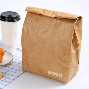 Students Cold Insulation Paper Lunch Bag Kraft Paper Office Food Container LP