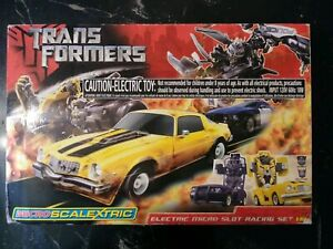 Transformers Scalextric Electric Slot Car Racing Set 1:64 MINT SEALED one owner