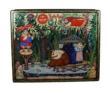 Beautiful Russian Lacquer Box FANTASY - MORNING #4111