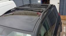 TOYOTA RAV4 on 2013 ALUMINIUM LOCKABLE ROOF RAIL BARS RACK + CROSS BARS BLACK