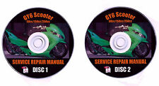 Scooter 50cc/150cc/250cc GY6 QMB/QMJ Service Repair Shop Manual Plus BONUS CD's