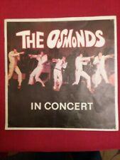The Osmonds In Concert Program Vintage 1970s Donny Osmond +