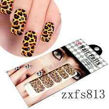 1 Piece Nail Art Decoration packaged Foils in Leopard Design Stickers For free