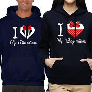 VALENTINE'S DAY CUTE HIS & HERS LOVE COUPLE MATCHING HOODIE SWEATSHIRT SET