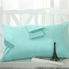 Solid Pillowcase Light Blue Queen (20 Inch x 30 Inch) 100% Egyptian Cotton