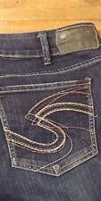 SILVER JEANS SUKI Women's Glove Works Medium Wash Bootcut  34W X 28L CA00508