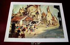 2 GUSTAF TENGGREN LITHOS  DISNEY's PINOCCHIO: GEPPETO's SHOP & GEPPETO IN WHALE!