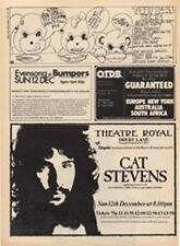 Cat Stevens Alun Davies Theatre Royal Drury concert advert Time Out cutting 1971