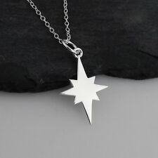 North Star Silhouette Necklace - 925 Sterling Silver - Christmas Stars Northstar