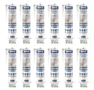 12 Silikon Professional Sanitär weiß 280ml Nassbereich Bad Innen Außen Baustoff