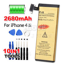 Premium For Apple iPhone 4S Replacement Battery 2680mAh Li-ion Gold Tools Kit