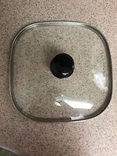 "LID for Rival 11"" Square Electric Skillet Glass & Stainless Steel Replacement"