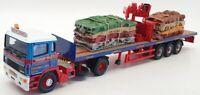 Corgi 1/50 Scale CC11910 - ERF EC Flatbed Crane & Crushed Car Load