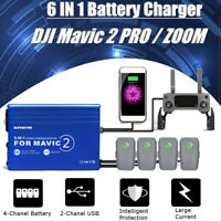 6 in 1 Rapid Battery Charger Hub Multi Power For DJI MAVIC 2 PRO/ ZOOM Drone