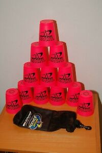 Speed Stacks Cup Set with Bag Pink and Black