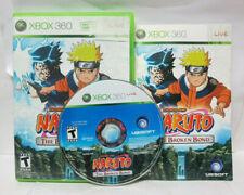Naruto: The Broken Bond (Microsoft Xbox 360, 2008) Complete