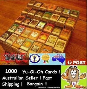 YuGiOh! 1000 + Bulk Cards Pack [10 HOLOS] GENUINE KONAMI Australia Collection