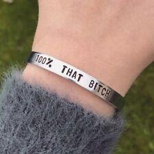 Lizzo 100% That Bitch Bracelet Silver Cuff Bracelet Handmade Jewellery