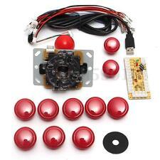 Red Arcade DIY Replacement Part Set Kits USB Encoder+PC Joystick+10 Push Buttons