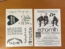 "ECHOSMITH - ""Talking Dreams"" Promo Temp Tattoo's - 2 COUNT -  New in Mint"