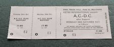 AC/DC  LET THERE BE ROCK TOUR  ORIGINAL  UK 1977 CONCERT TICKET