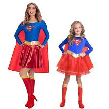 Adult's Kids Superhero Official Classic Comic Book Supergirl Fancy Dress Costume