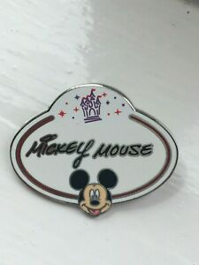 DISNEY NAME TAG MICKEY MOUSE MYSTERY PIN