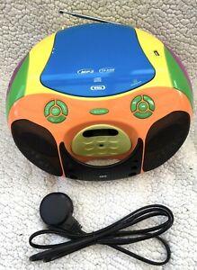 SEG FM Radio CD USB MP3 Multicoloured Kids Childrens Player BB1325 (cd faulty)