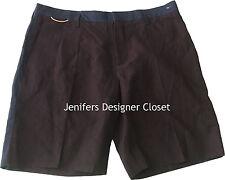 New MARC JACOBS Men's Shorts 36/52 Italy Cotton Linen Blend Navy Wine