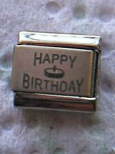 """HAPPY BIRTHDAY"" 9MM ITALIAN CHARM-CELEBRATE, DAY OF BIRTH, PARTY, BALLOONS"
