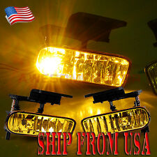 US Yellow Amber Front Fog Light Lamp For 00-06 Chevy Suburban Tahoe Silverado AM
