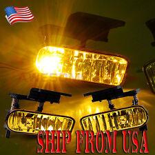 US Yellow Front Fog Light Lamp Pair For 2000-2006 Chevy Suburban Tahoe Silverado