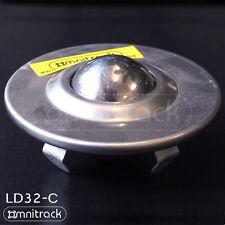 """OMNITRACK LD32-C """"Stainless Steel"""" Light Duty 'Push Clip' Ball Transfer Unit"""