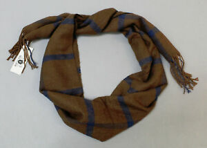 Honorable Beast Men's Soft Fringe Hem Acrylic Scarf SC4 Brown One Size NWT $45